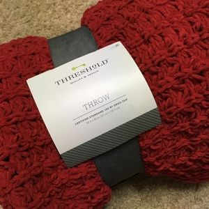 Threshold red Burgundy throw 50x60 OekoTex blanket